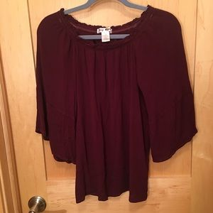 Say What Off the Shoulder Blouse- Bell Sleeve